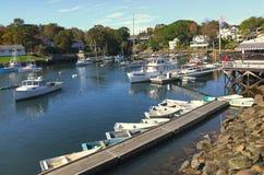 Pequeño puerto de Nueva Inglaterra Fotografía de archivo