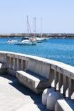 Pequeño puerto de Santa Maria di Leuca, Italia meridional imagen de archivo libre de regalías