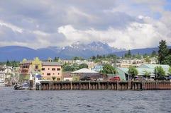 Pequeño puerto en el tiempo del día Foto de archivo libre de regalías