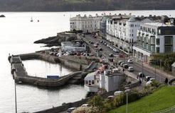 Pequeño puerto en la azada del oeste en Plymouth Reino Unido Imagenes de archivo