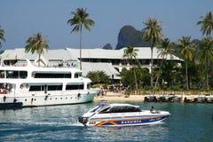 Pequeño puerto en la isla de Phi Phi Foto de archivo libre de regalías
