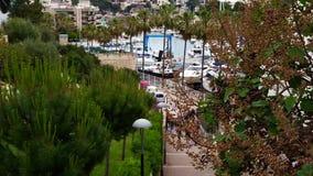 Pequeño puerto en Mallorca, España almacen de metraje de vídeo