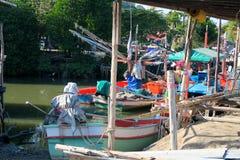 Pequeño puerto, pueblo del pescador, Tailandia Fotografía de archivo libre de regalías