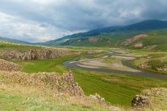 Pequeño río de la montaña Fotografía de archivo