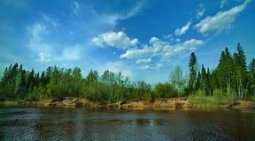 Pequeño río de Siberin Fotos de archivo libres de regalías