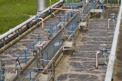 Pequeño recurso local del tratamiento de aguas residuales Imagen de archivo libre de regalías