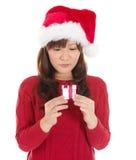 Pequeño regalo de la Navidad Fotos de archivo