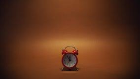 Pequeño reloj rojo Fotografía de archivo libre de regalías