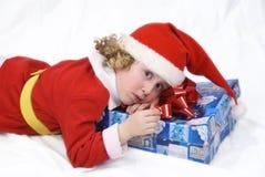 Pequeño Santa rizado imagenes de archivo