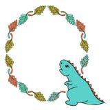 Pequeño sistema de Dino ilustración del vector