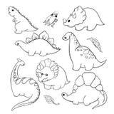 Pequeño sistema de Dino stock de ilustración