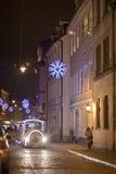 Pequeño stret en Riga Fotografía de archivo libre de regalías