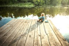 Pequeño sueño solo de la muchacha Imagen de archivo