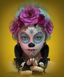 Pequeño Sugar Skull Girl, 3d CG Fotografía de archivo