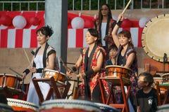 Pequeño Taiko Drums Fotografía de archivo libre de regalías