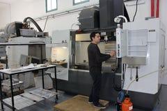 Pequeño taller con el CNC de las máquinas Imágenes de archivo libres de regalías