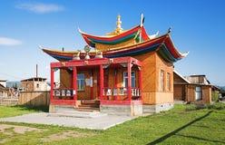 Pequeño templo en el Ivolginsky Datsan Foto de archivo libre de regalías