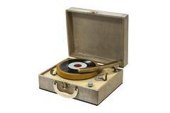 Pequeño tocadiscos retro aislado Imagenes de archivo