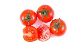 Pequeño tomate de cereza Imagen de archivo