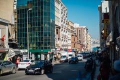 Pequeño tráfico en Estambul fotografía de archivo libre de regalías