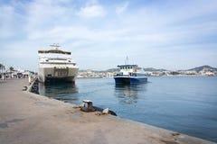 Pequeño transbordador de Aquabus a Formentera Imagen de archivo