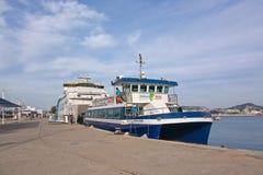 Pequeño transbordador de Aquabus a Formentera Fotografía de archivo