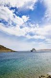 Pequeño transbordador en el mar Imagen de archivo