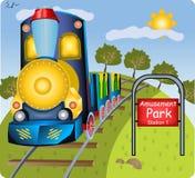 Pequeño tren stock de ilustración