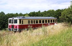 Pequeño tren diesel Fotos de archivo