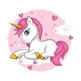 Pequeño unicornio lindo libre illustration
