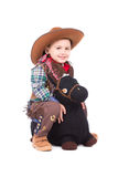 Pequeño vaquero sonriente Foto de archivo libre de regalías