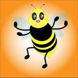 Pequeño vector de la abeja Imágenes de archivo libres de regalías