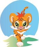 Pequeño vector del tigre libre illustration