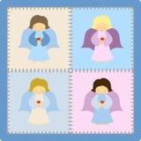 Pequeños ángeles ilustración del vector