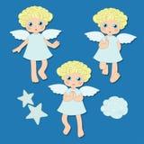 Pequeños ángeles stock de ilustración