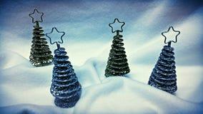 Pequeños árboles de navidad Fotografía de archivo