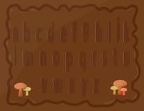 Pequeños alfabetos Imágenes de archivo libres de regalías