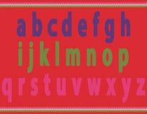 Pequeños alfabetos hechos punto Foto de archivo libre de regalías