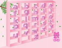 Pequeños alfabetos ingleses para los niños Imagen de archivo libre de regalías