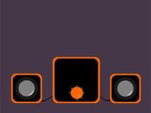 Pequeños altavoces negros Imagen de archivo