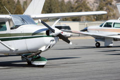 Pequeños aviones fotos de archivo