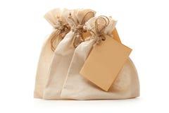 Pequeños bolsos de la materia textil Imagen de archivo libre de regalías