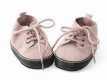 Pequeños botines rosados Fotos de archivo libres de regalías