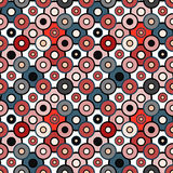 Pequeños círculos hermosos en modelo inconsútil del estilo retro Imágenes de archivo libres de regalías