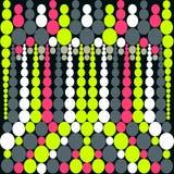 Pequeños círculos psicodélicos en un fondo negro stock de ilustración