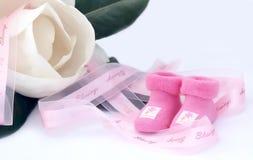 Pequeños calcetines rosados Imagen de archivo libre de regalías