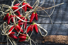 Pequeños chiles rojos picantes Fotografía de archivo libre de regalías