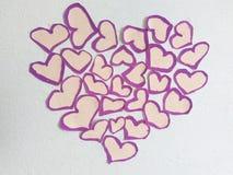 Pequeños corazones Fotografía de archivo