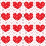 Pequeños corazones en corazón grande Stock de ilustración