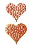 Pequeños corazones en un corazón grande Imágenes de archivo libres de regalías